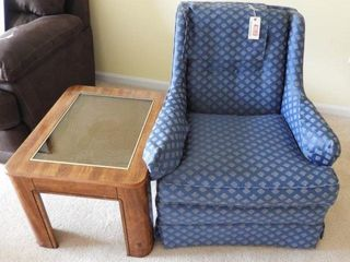 Lot # 4289 - Contemporary blue upholstered