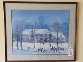 Lot # 4290 - Framed print of winter snow scene