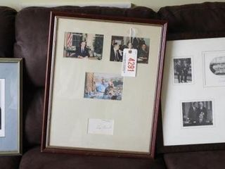 Lot # 4291 - Autographed Richard Nixon collage,