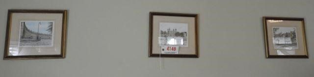 Lot # 4148 - (3) framed colored lithographs