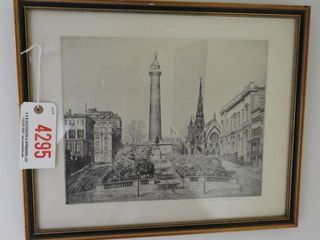 Lot # 4295 - Framed black and white lithograph