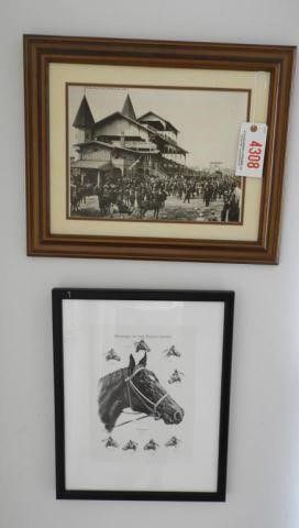 Lot # 4308 - Framed black and white photo of