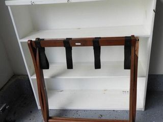 Lot # 4314 - White three tier bookcase and