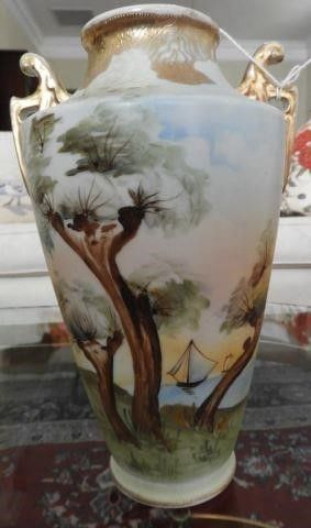 Lot # 4157 - Hand painted Nippon double handled