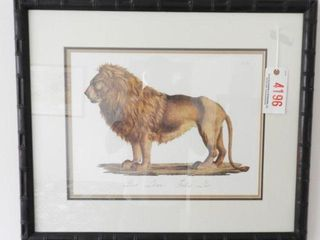 Lot # 4196 - Framed Print of lion 27? x 33?