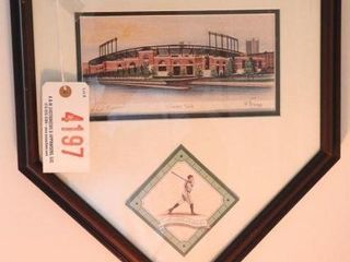 Lot # 4197 - Framed Monuments of Baseball print