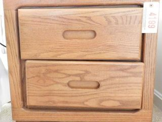 Lot # 4199 - Contemporary Oak two drawer end