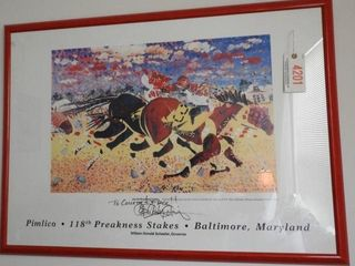 Lot # 4201 - Framed Poster of the 118th Preakness