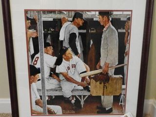 Lot # 4207 - Framed Norman Rockwell print of