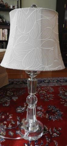 Lot # 4142 - Glass and crystal font contemporary