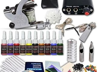 Complete Tattoo Kit Machines Color Inks Power