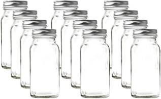 U Pack 12 Pieces of French Square Glass Spice