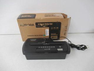 Used  Aurora AU800SD Professional Strip Cut Paper