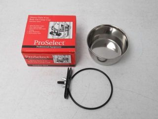 Used  ProSelect 8 Ounce Stainless Steel Coop Cups