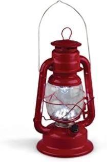 Gerson 11 Inch Red Metal 17 lED Hurricane lantern