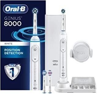 Oral B 8000 Electronic Toothbrush  White  Powered
