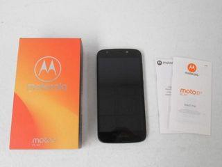 As Is  Motorola e5 Play 16GB Smartphone  Black