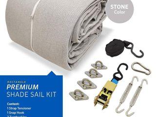 Coolaroo Premium Shade Sail Kit   16 5 x9 11