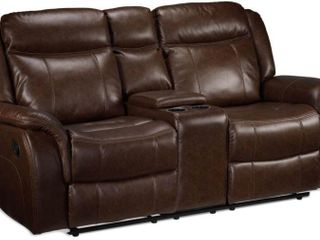 Rushmere Reclining loveseat with Console  Brown