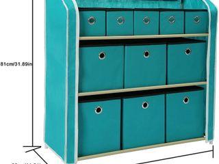 HOMEFORT Multi Bin Storage Organizer Cabinet Unit
