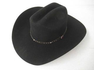 Used  Justin Men s 3X Hills Hat  Black  7 3 8