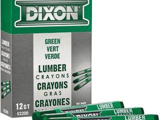 2  DIXON 12 Pk lumber Marking Crayons  4 5  x