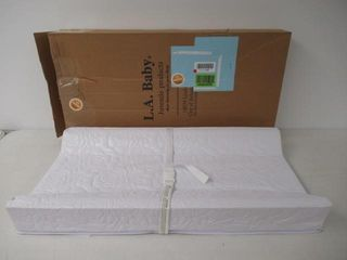 As Is  lA Baby Contoured Changing Pad  White