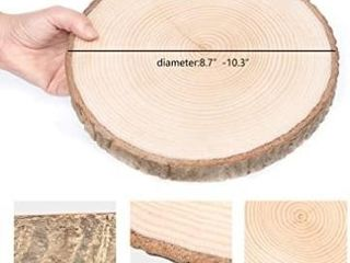 2 Pack large Natural Wood Slices Round Rustic