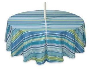 Capri Stripe 70 Inch Round Indoor Outdoor