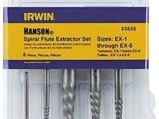 Irwin 53535 5 Pc Spiral Screw Extractor Set