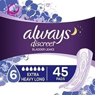 AlWAYS DISCREET Incontinence Pads for Women  Extra