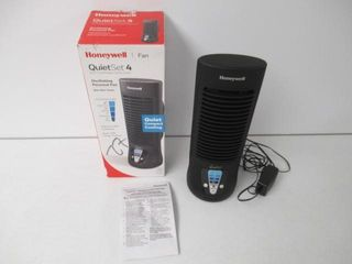 As Is  Honeywell HTF210BC QuietSet 13  Table Fan