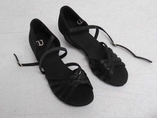 little Girls 31 Heeled Sanadals  Black  Brand