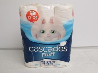 As Is  Cascades Fluff 12 Double Roll Toilet Paper