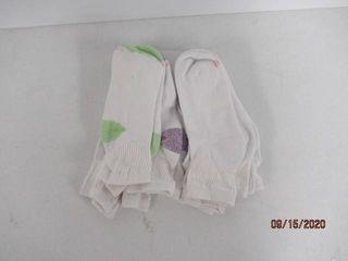 8 Pack Hanes Ankle Socks  White Multi