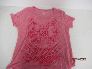 Just My Size Women s 1Xl Crewneck T Shirt  Pink