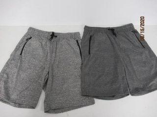 2 Pack Texfit Men s Medium Shorts  Heather Grey