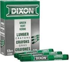 (2) DIXON Industrial Lumber Marking Crayons, 4.5