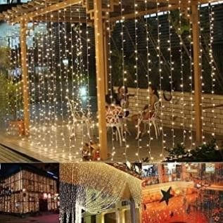 Ucharge Curtain Lights, 300 LED 29V Waterproof
