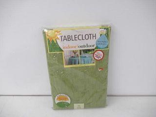Indoor Outdoor Tablecloth  70  Round  Green