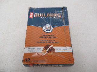12 Pack Clif Builders Bars Chocolate Peanut