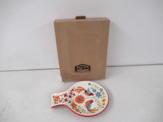 Bico Red Spring Bird Ceramic Spoon Rest