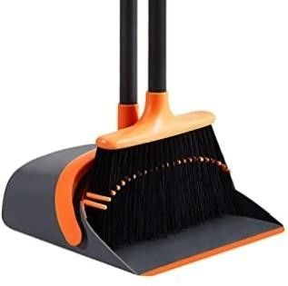 SANGFOR Dust Pan and Broom Set Cleans Broom and