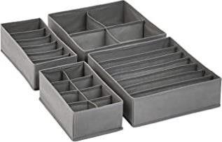 Grey Dresser Drawer Storage Organizer for