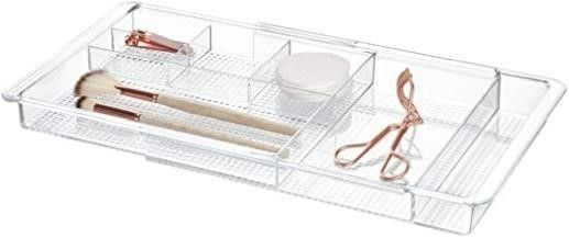 InterDesign Expandable Drawer Organizer  Clear