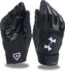 2  Under Armour UA Heater Batting Gloves  Black