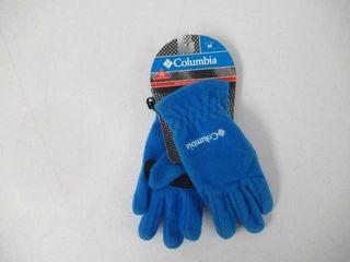 Columbia Fleece Cold Weather Gloves  Blue  Medium