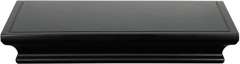 MCS 12  long Deep Wall Shelf ledge  Black  66866