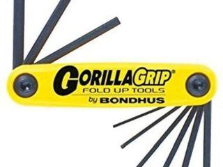 Bondhus 12591 GorillaGrip Set of 9 Hex Fold up