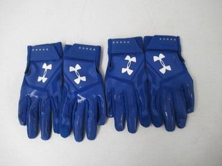 2  Under Armour UA Heater Batting Gloves  Blue